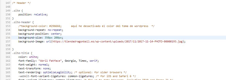 site header modificado